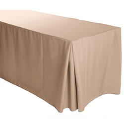 "6FT Premium Polyester Rectangular Fitted Tablecloth 30""x72""x29"" with Inverted Pleates"