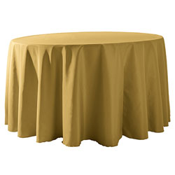 "132"" Round Polyester Table Cloths"