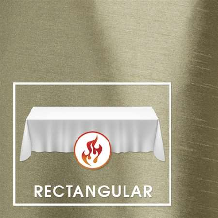 "72""x144"" Rectangular Polished-Luster Flame Retardant Satin Tablecloth"