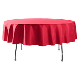 "72"" Round Polyester Table Cloths"