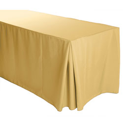 "8FT Premium Polyester Rectangular Fitted Tablecloth 30""x96""x29"" with Inverted Pleates"