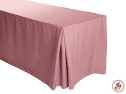 "Fire Retardant/Proof Polyester Fitted Tablecloth 30""X96""X29"" W/ Inverted Pleats - 8 Foot Table"