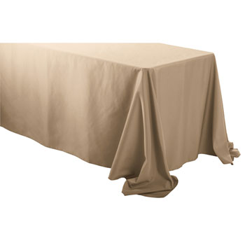 "90"" X 132"" Rectangular Polyester Table Cloths"
