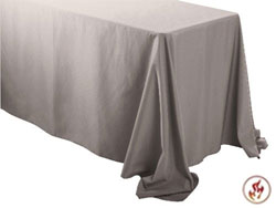 "Fire Retardant/Proof 90"" X 132"" Rectangular Polyester Table Cloths"