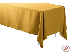 "Fire Retardant/Proof 72"" X 120"" Rectangular Polyester Table Cloths"
