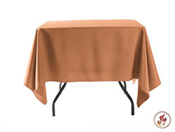"Fire Retardant/Proof Polyester Square/Overlay 60"" x 60"""
