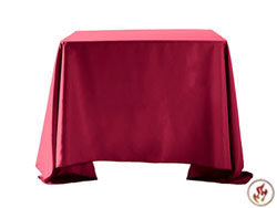 "Fire Retardant/Proof Polyester Square/Overlays 90"" x 90"""