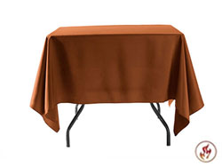 "Fire Retardant/Proof Polyester Overlays 54"" x 54"""