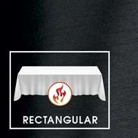 "90""x132"" Rectangular Polished-Luster Flame Retardant Satin Tablecloth"