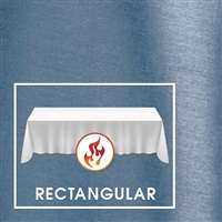 "90""x156"" Rectangular Polished-Luster Flame Retardant Satin Tablecloth"