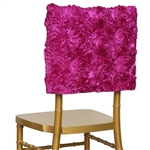 Grandiose Rosette Chair Caps (Square-Top) – Fushia