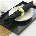 "Napkins 5/pk 17x17"" - Black"
