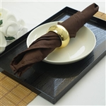 "Napkins 5/pk 17x17"" - Chocolate"