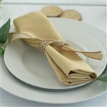 "Econoline Polyester Napkins-20""x20"" - Champagne"
