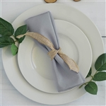 "Econoline Polyester Napkins-20""x20"" - Silver"
