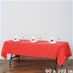 "Econoline Tablecloth 60x102"" - Coral"