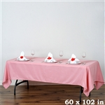 "Econoline Tablecloth 60x102"" - Rose Quartz"