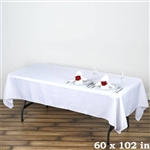 Econoline White Tablecloth 60x102""