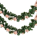 6 Ft Blush UV Protected Rose Chain Artificial Flower Garland
