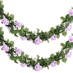 6 Ft Lavender UV Protected Rose Chain Artificial Flower Garland