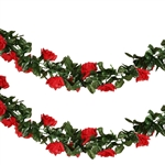6 Ft Red UV Protected Rose Chain Artificial Flower Garland