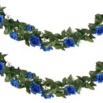 6 Ft Royal Blue UV Protected Rose Chain Artificial Flower Garland