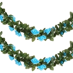 6 Ft Turquoise UV Protected Rose Chain Artificial Flower Garland
