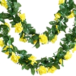 6 Ft Yellow UV Protected Rose Chain Artificial Flower Garland