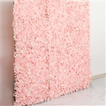 4 PCS Silk Hydrangea Flower Mat Wall Backdrop - Blush