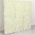 4 PCS Silk Hydrangea Flower Mat Wall Backdrop - Cream