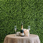 10 Sq ft. UV Protected Green Elliptical Leaves Foliage Artificial Boxwood Hedge Green Wall Mat - Pack of 4