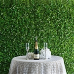 10 Sq ft. UV Protected Palm Leaves Honeysuckles Shrubs and Clovers Foliage Artificial Boxwood Hedge Green Wall Mat - Pack of 4