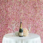 4 PCS Silk Hydrangea Flower Mat Wall Backdrop - Pink and Cream