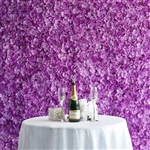 4 PCS Silk Hydrangea Flower Mat Wall Backdrop - Purple