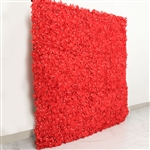 4 PCS Silk Hydrangea Flower Mat Wall Backdrop - Red