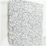4 PCS Silk Hydrangea Flower Mat Wall Backdrop - Silver