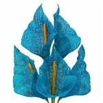 25 PCS Turquoise Burlap Large Calla Lilies For Vase Centerpiece