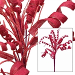 36 PCS Fushia Burlap Pageant Flares For Vase Centerpiece