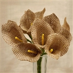 36 PCS Natural Artificial Burlap Calla Lilies Flowers