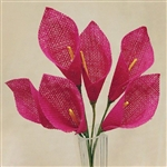36 PCS Fushia Burlap Everyday Calla Lilies For Vase Centerpiece