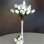 6 Bush 42 PCS Artificial Velvet Rose Bud Flowers - Ivory