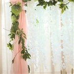 "42"" Artificial Wisteria Vine Hanging Garland - White"