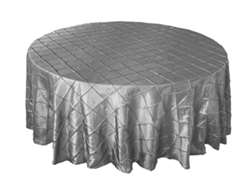 "108"" Round Tablecloth Pintuck - Silver"