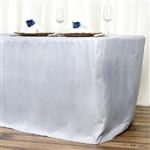 Econoline 8 foot Fitted Tablecloths - Silver