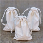 "4""x6"" Cotton Drawstring Gift Pouches - 10 Pack"