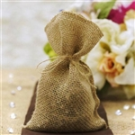 "5""x8"" Natural Jute Burlap Party Favor Bags - 10 Pack"