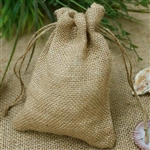 "7"" Natural Jute Burlap Favor Bags - 10 Pack"