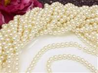 6mm Decoration Wedding Pearls (Embellishment) - Ivory 12 Yards Strand