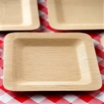 "10 Pack - Sleek Bamboo 9"" Square Plates"