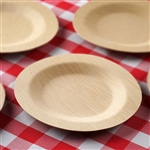 "10 Pack - Sleek Bamboo 7"" Round Plates"